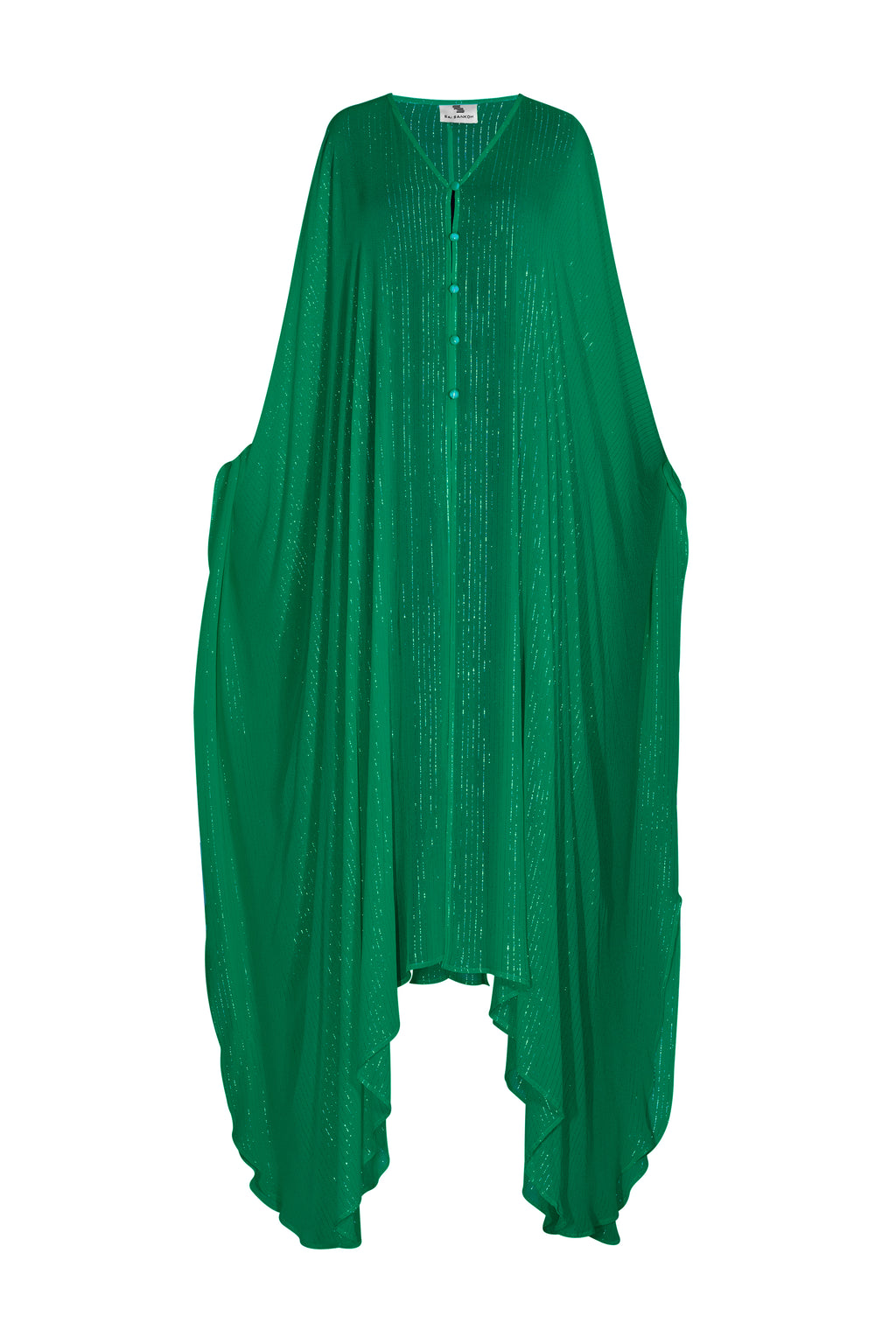 Forest Green Lurex Goddess kaftan