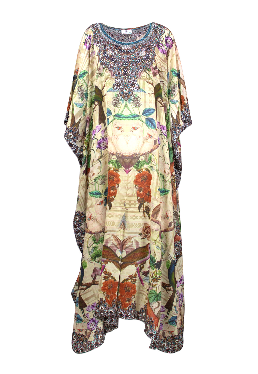 Iye Long Silk Crepe Kaftan