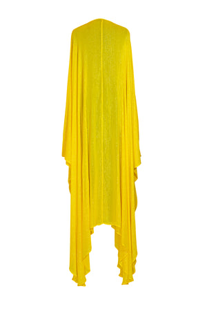 Yellow Lurex Goddess kaftan