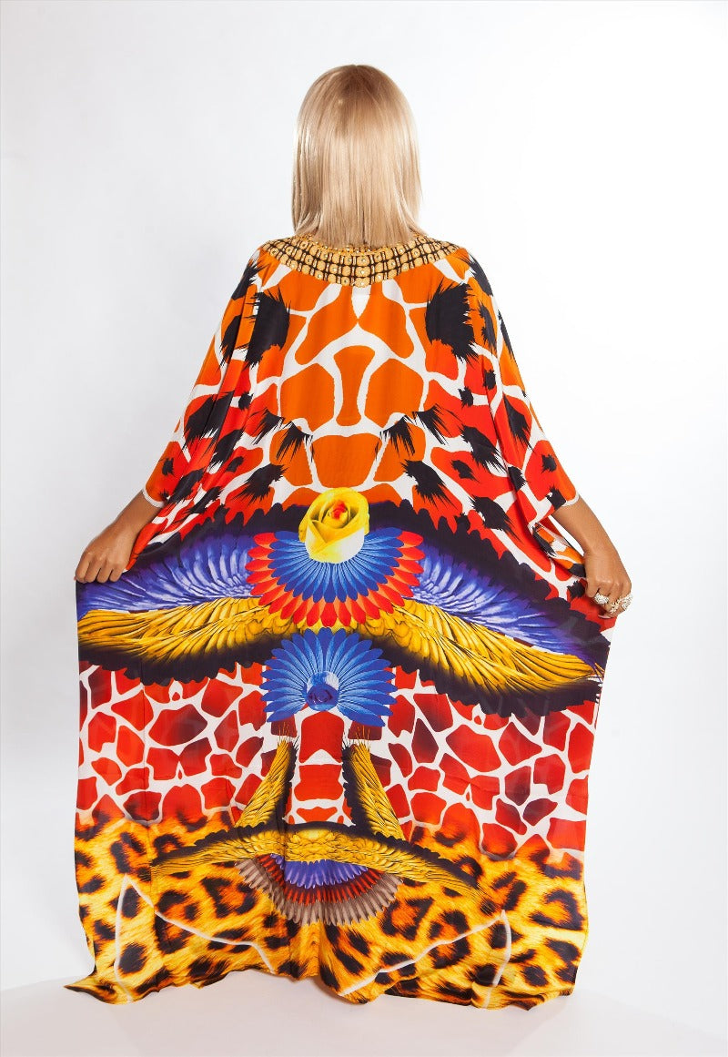 Kenya Silk Box Kaftan