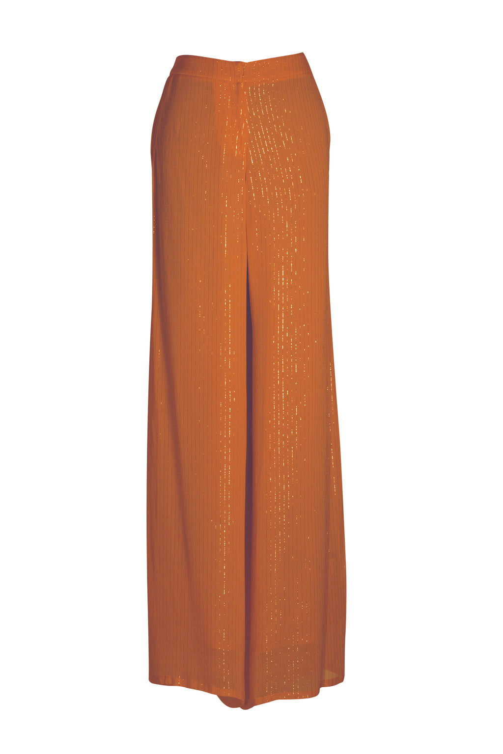 Brown Lurex Liza Pants