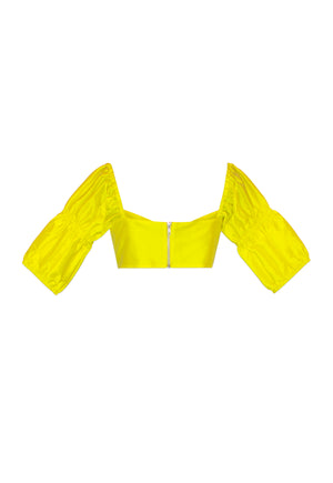 Yellow Reyna Bra Crop Top