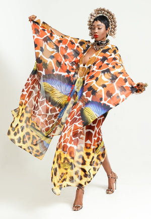 oversized luxurious kaftans colorful