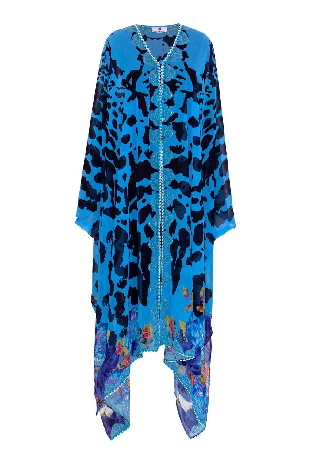 Blue Jezebel Goddess Kaftan