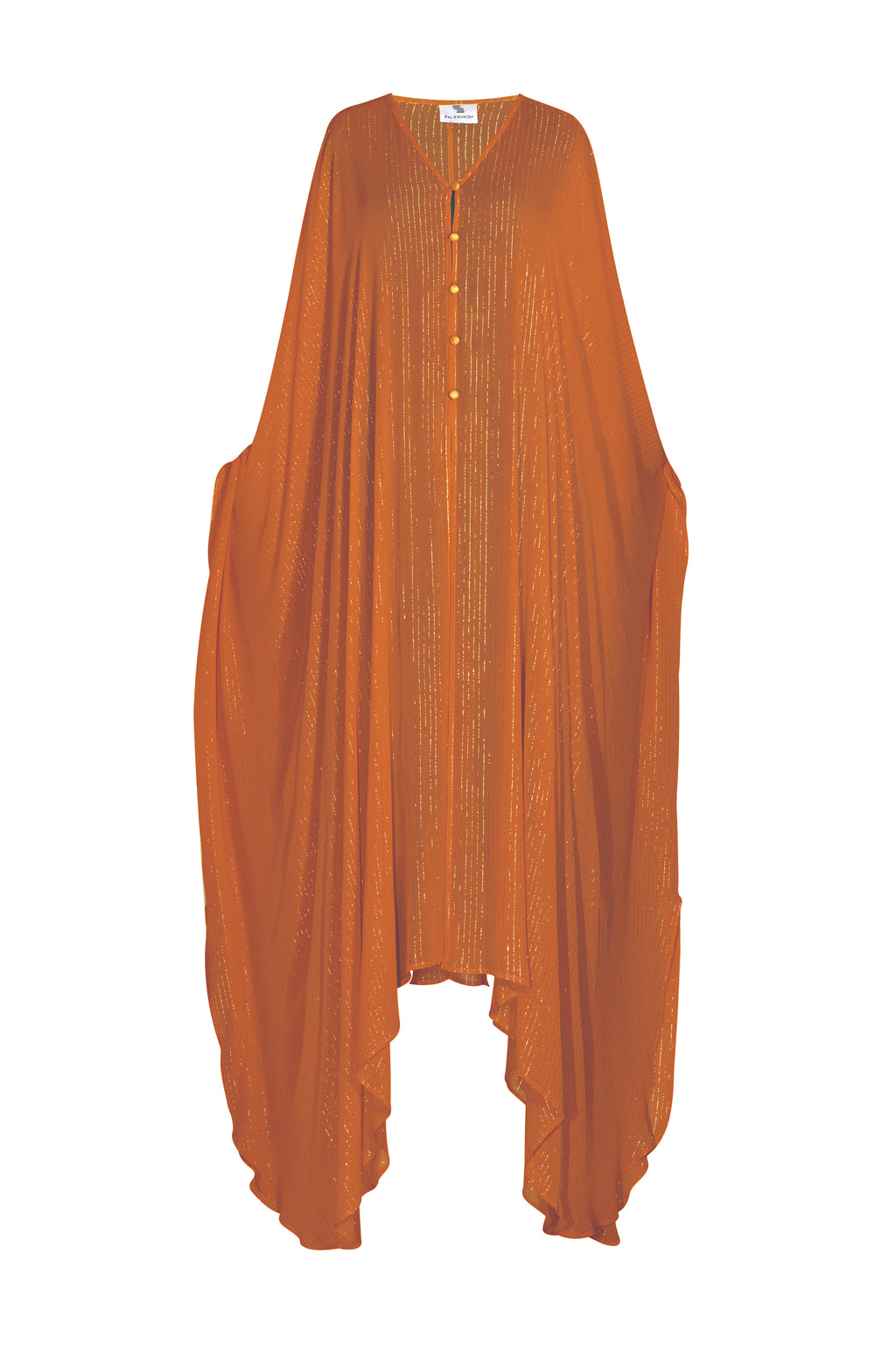 Brown Lurex Goddess kaftan