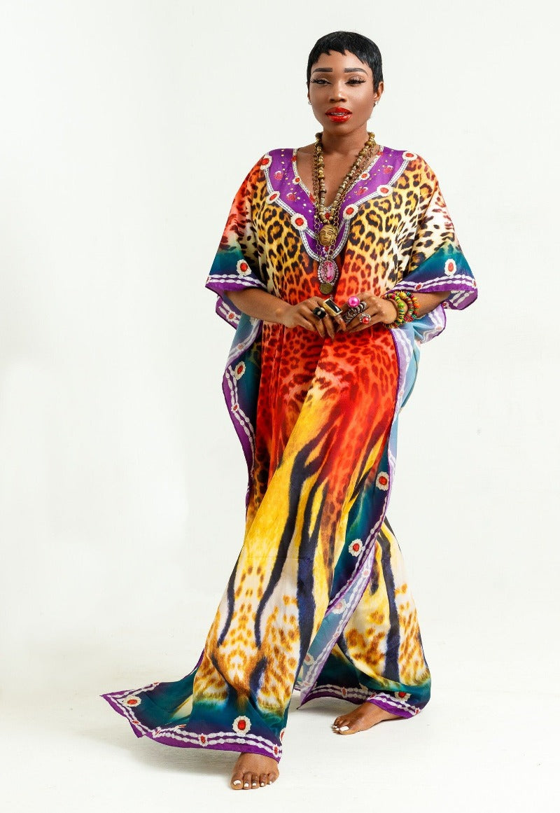 Luxury Resort Wear Kaftans made in India by sai sankoh