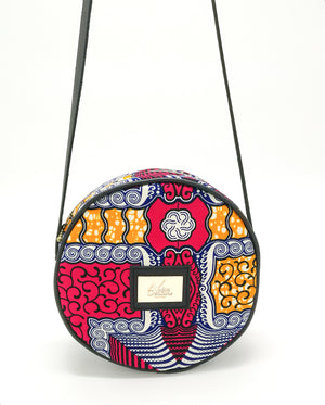"Sac Rond en Wax ""Flamingo"""