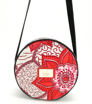 "Sac Rond en Wax ""Rose de Porcelaine"""