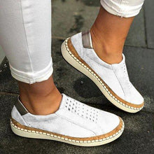 Load image into Gallery viewer, Hollow-Out Round Toe Women Casual Sneakers