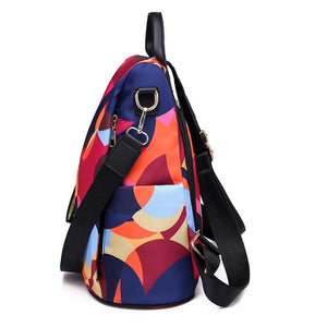 Oxford Printing Anti Theft Backpack