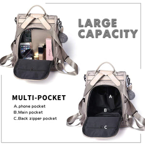 Leather 3 Way Anti-Thief Backpack