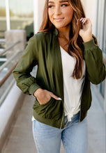 Ampersand Essential Bomber Jacket {Olive}
