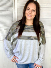 Camo Block Sweatshirt {Gray}