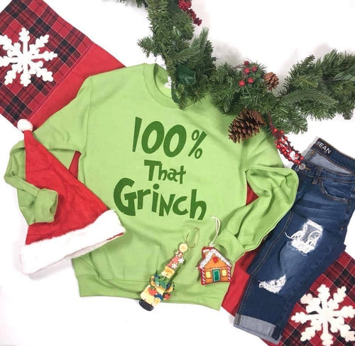 100% That Grinch Pullover