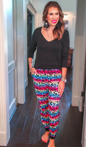Everyday Joggers {Rainbow Leopard}