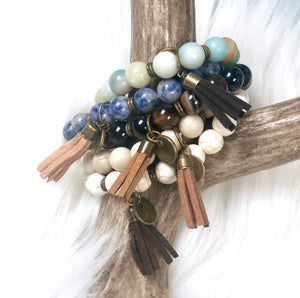 Natural Energy Tassel Bracelet