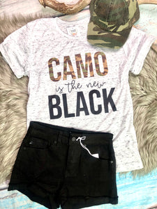 Camo is the New Black Tee