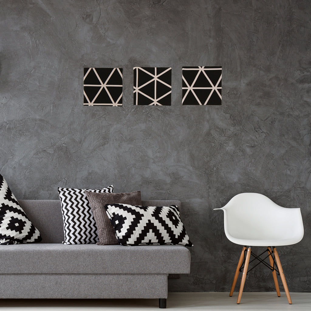 Black & White Fabric Wall Frames