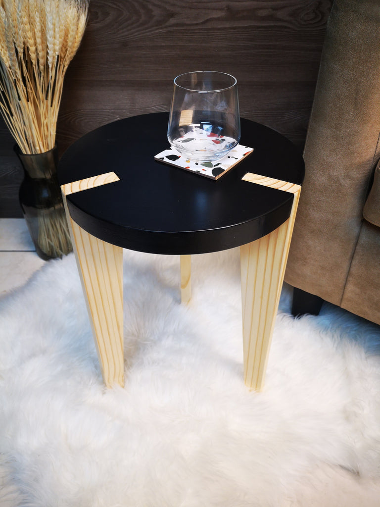 Contrast side table