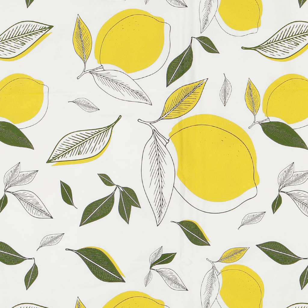 Lemon & leaves tablecloth