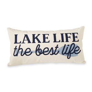 LAKE LIFE APPLIQUE CANVAS PILLOW