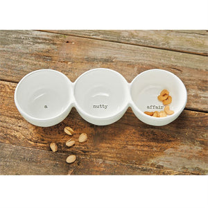 A NUTTY AFFAIR CERAMIC TRIO