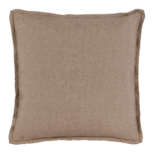 Kenya Natural Animal Print Pillow with Neutral Double Flange