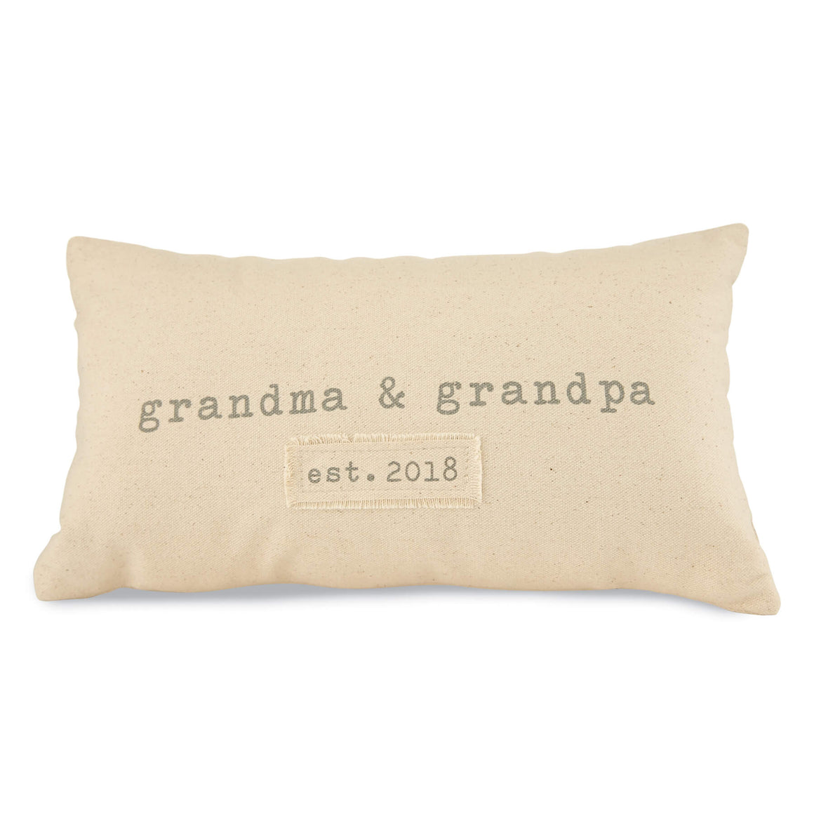 Grandparents Est. Pillow