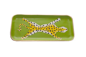 Green Leopard Tray