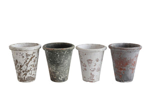 Clay Pot, Distressed Fin, 4 Colors