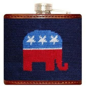 Republican Needlepoint Flask - Onward Reserve