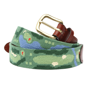 Front Nine Needlepoint Belt - OnwardReserve