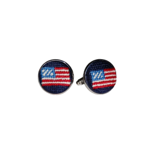 American Flag Needlepoint Cufflinks - OnwardReserve