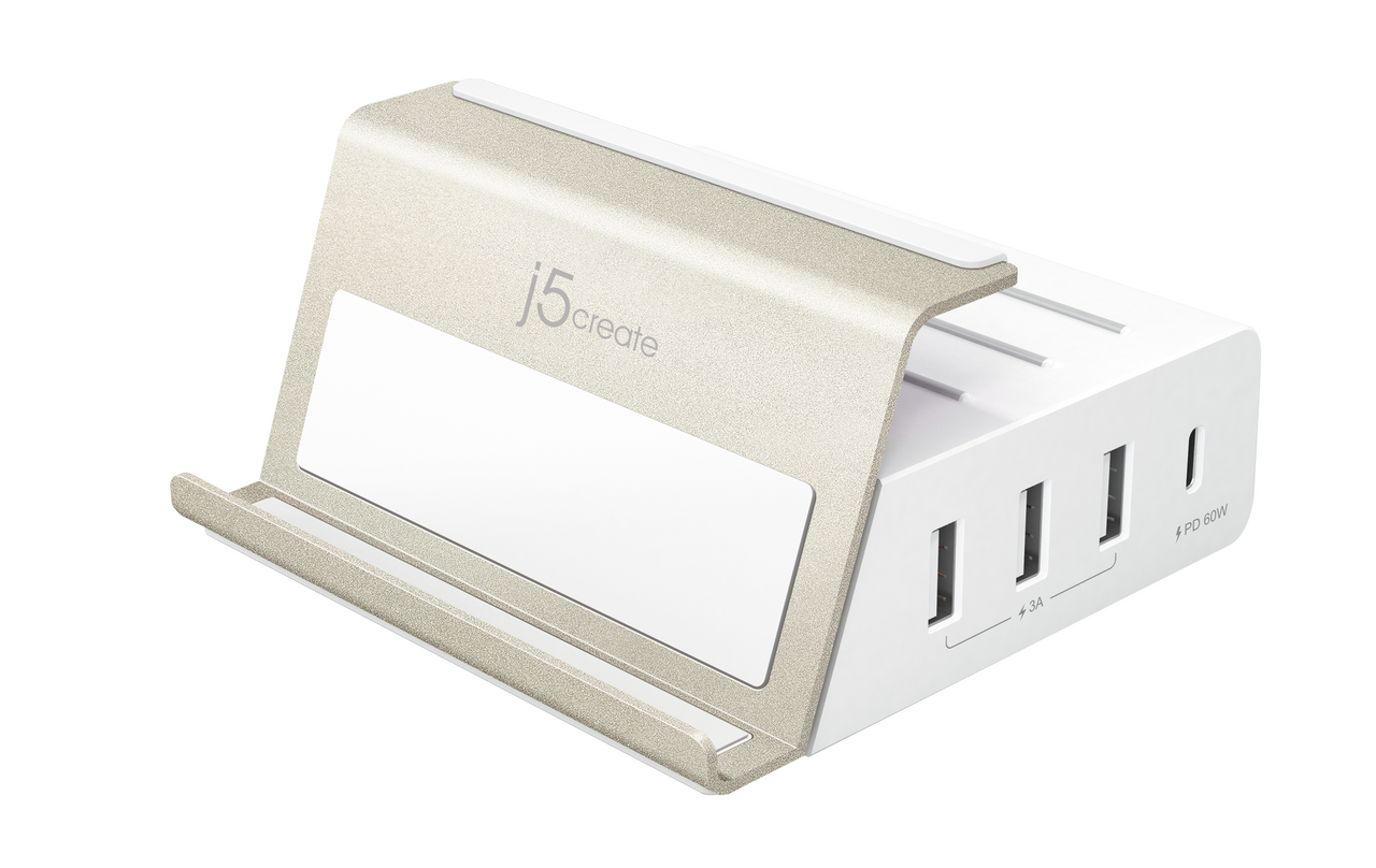 j5create JUP4275 4-Port USB  PD3.0+QC3.0智能型快速充电站