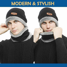 Load image into Gallery viewer, Beanie Hat Scarf Set