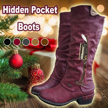 Load image into Gallery viewer, Women's Mid Calf Credit Card Money Wallet Pocket Boots