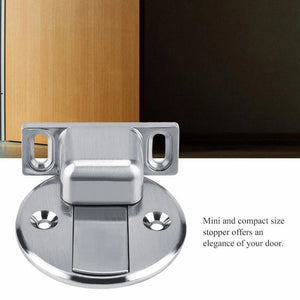 Stainless steel invisible magnetic doorstop