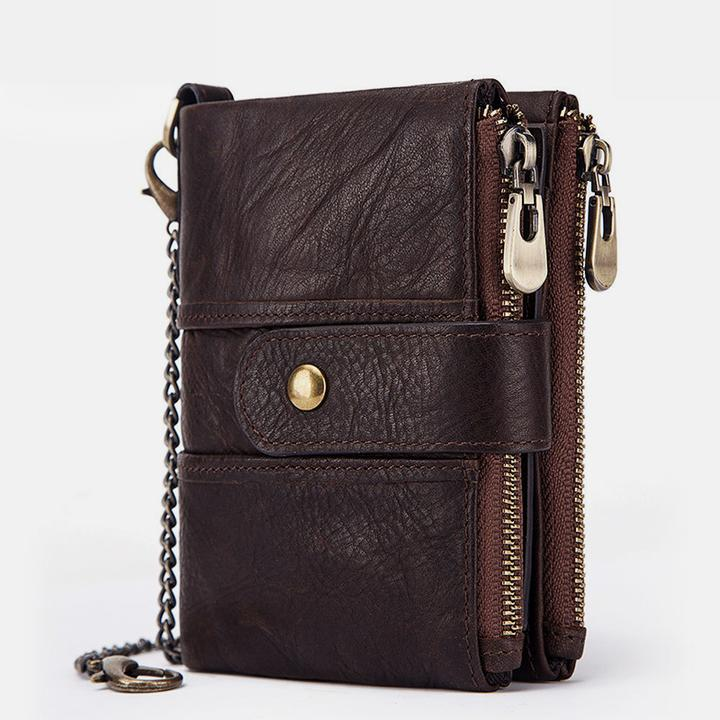 Anti-theft Retro Wallet With Chain 【Genuine Leather】