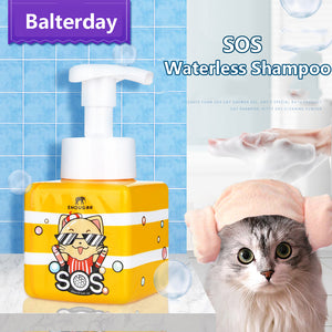 No Rinse Waterless Dry Shampoo for Cats