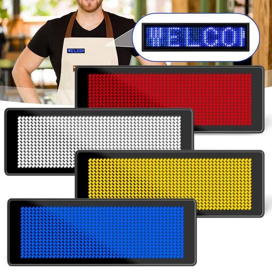 Wireless Bluetooth Advertising LED Name Badge