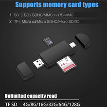 Load image into Gallery viewer, 3 in 1 OTG Card Reader