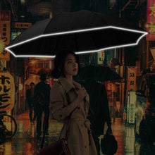 Load image into Gallery viewer, Foldable Reversible Automatic Umbrella(Reflective Strips)