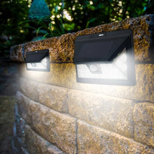 Wide Angle Solar-Powered Motion Sensor Security Light