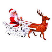 Load image into Gallery viewer, Electric elk pulling Santa Claus