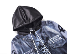 Load image into Gallery viewer, 3D leather fake two hoodies