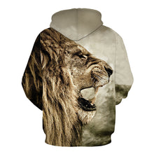 Load image into Gallery viewer, 3D Lion pattern Hoodie
