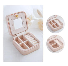 Load image into Gallery viewer, Small Faux Leather Travel Jewelry Box