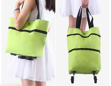 Load image into Gallery viewer, Shopping bag folding green bag