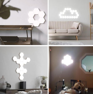 Creative Art Hexagonal Lamp Induction Lamp Background Wall Lights(3 PCs)