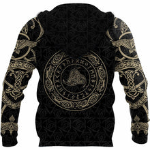 Load image into Gallery viewer, Viking Munin - Tattoo Style Hoodie Version 3.0